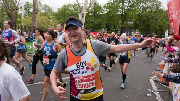 Guy, one of our London Marathon runners, during the race
