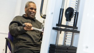 Randall Close service user at gym